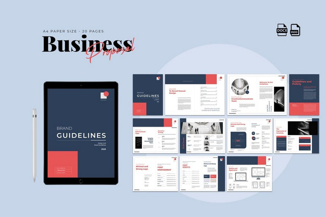 Clean Business Proposal Word Template
