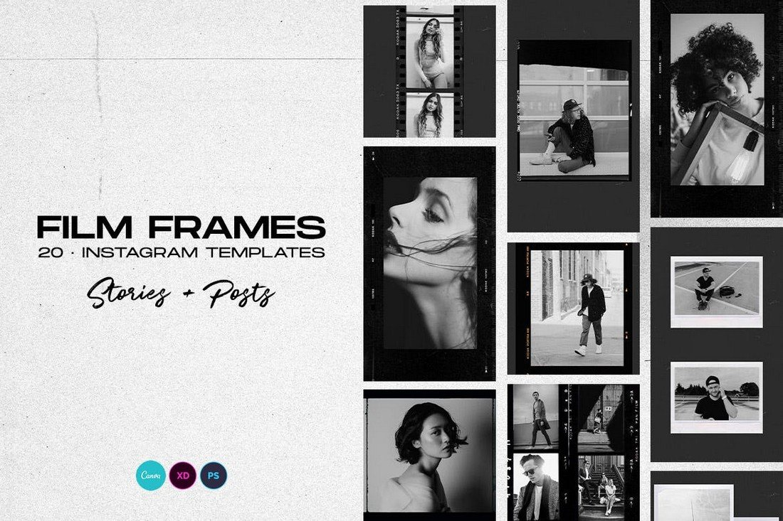 Film Frames Instagram Frame Story Template
