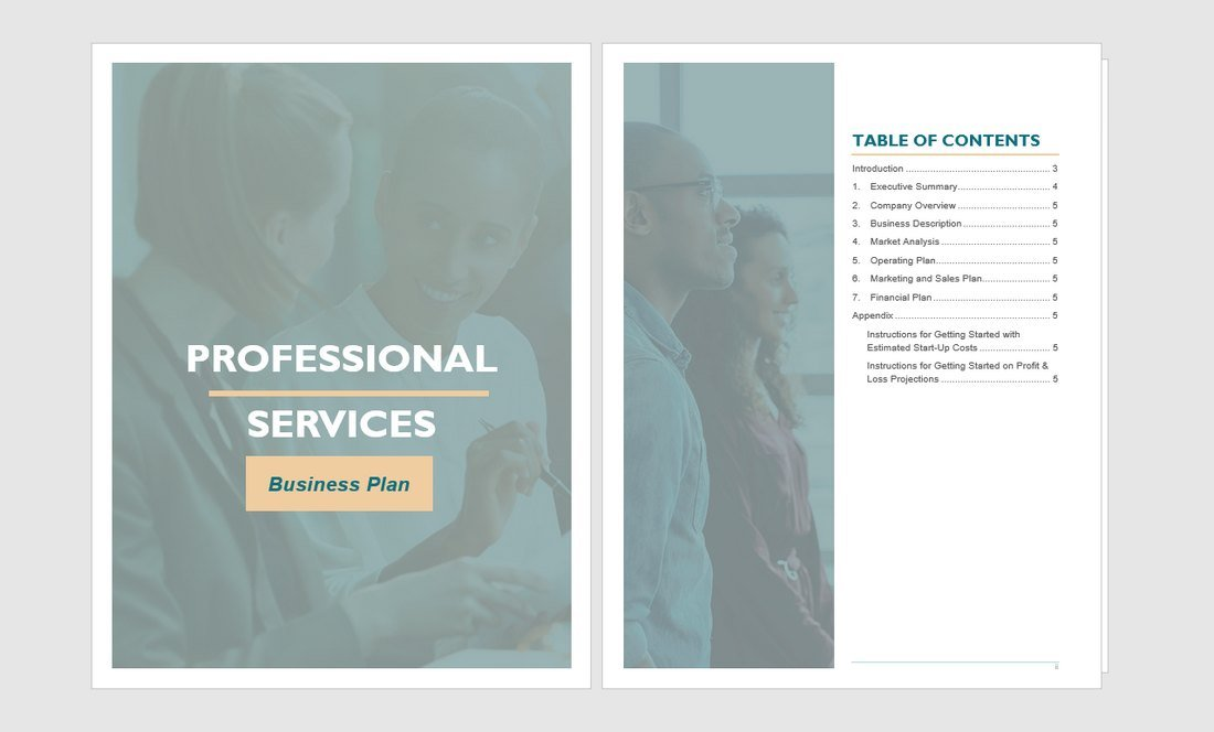 Free Professional Services Proposal Word Template