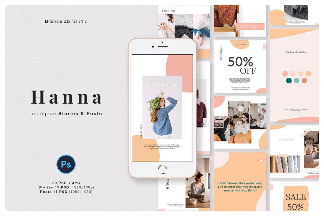 Hanna - Free Instagram Frame Templates