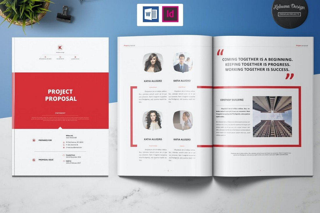 Minimal Project Proposal Word Template