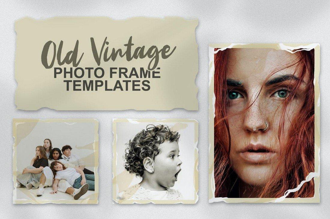 Old Vintage Photo Frame Instagram Templates