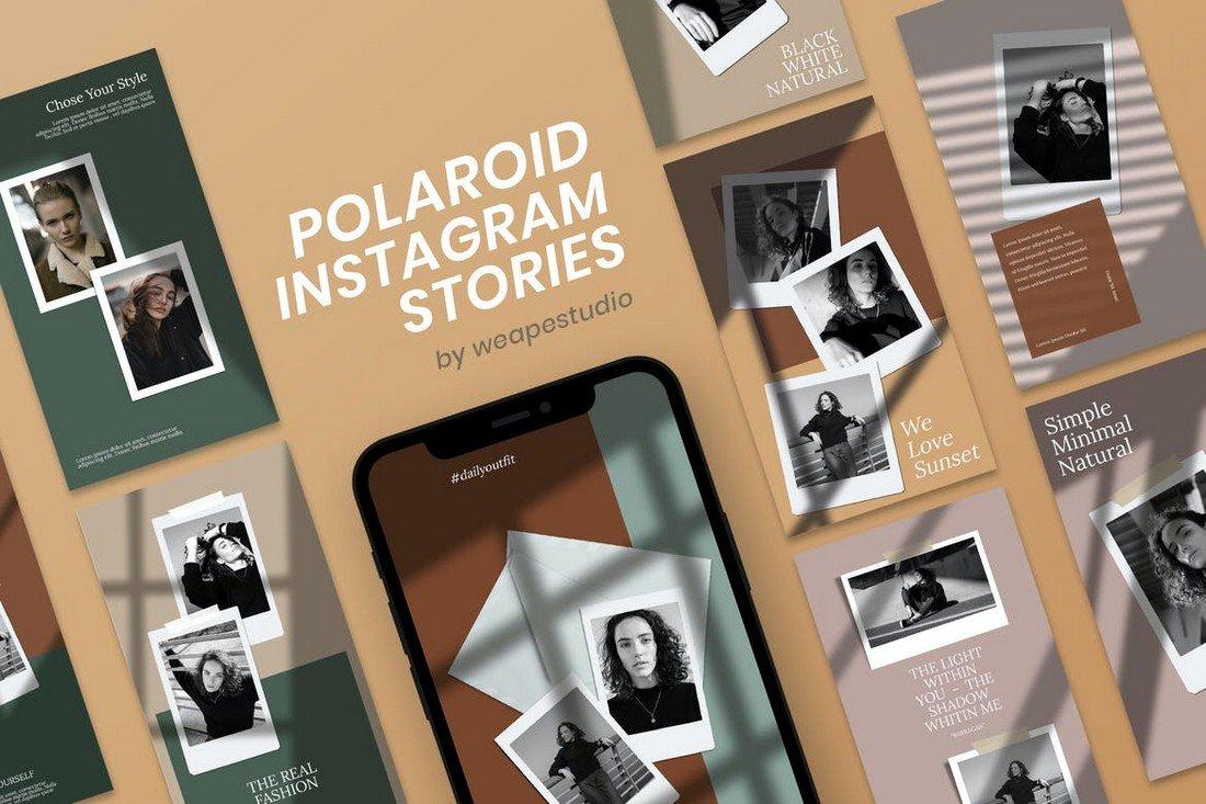 Polaroid Frame Instagram Story Templates