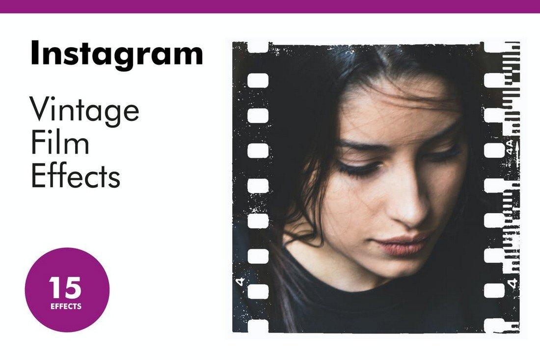 Vintage Film Effects Instagram Frame Templates
