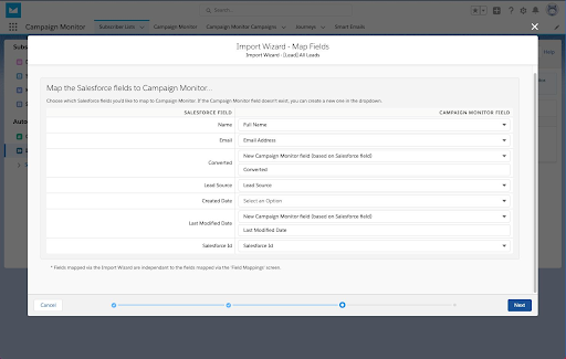 Import wizard for data into Salesforce