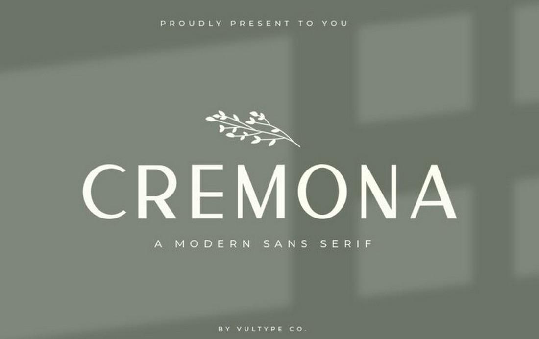Cremona - Free Modern Simple Font