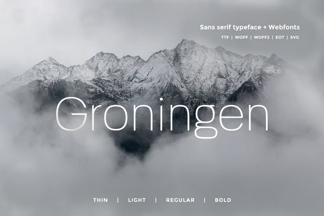 Groningen - Creative Minimalist Font