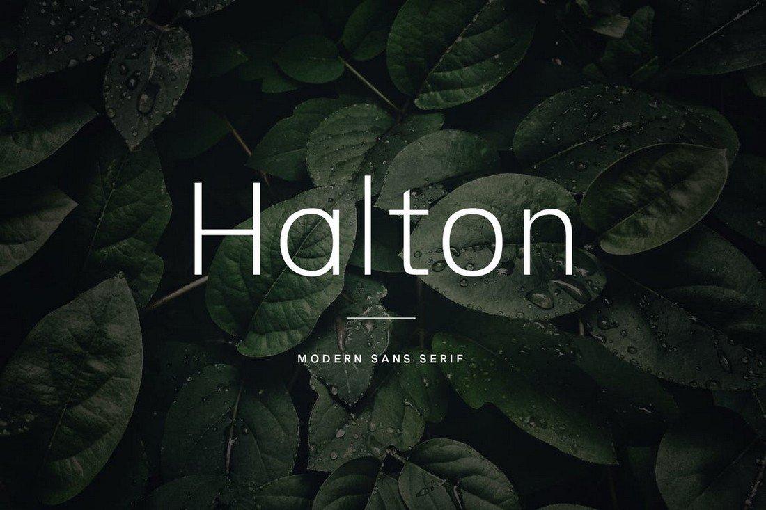Halton - Clean Sans Serif Font