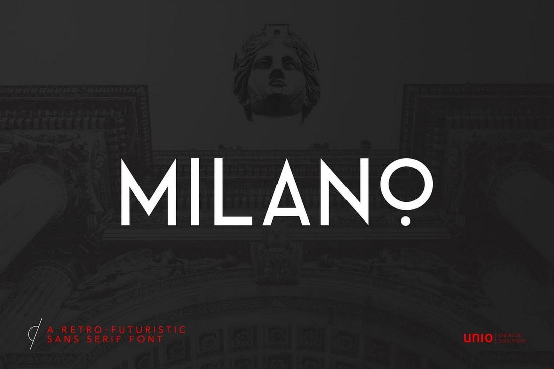 Milano - RetroFuturistic Minimal Font
