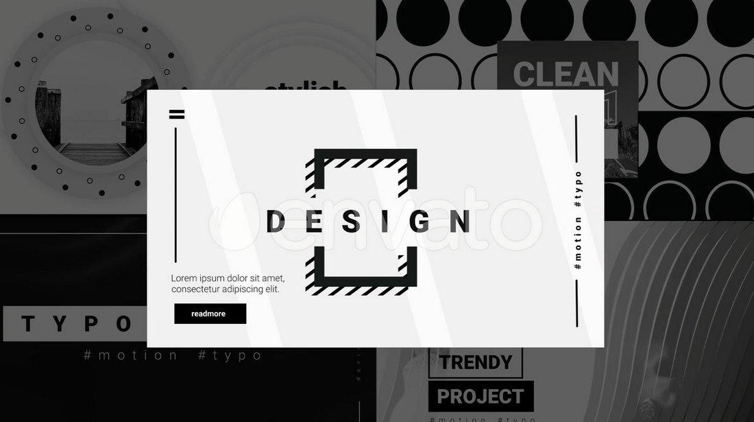 Monochrome Davinci Resolve Title Templates