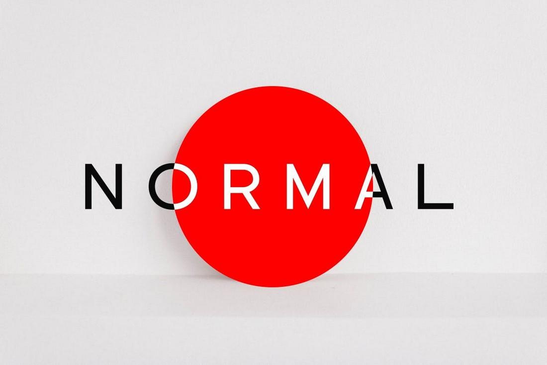 NORMAL - Minimal Sans Serif Font