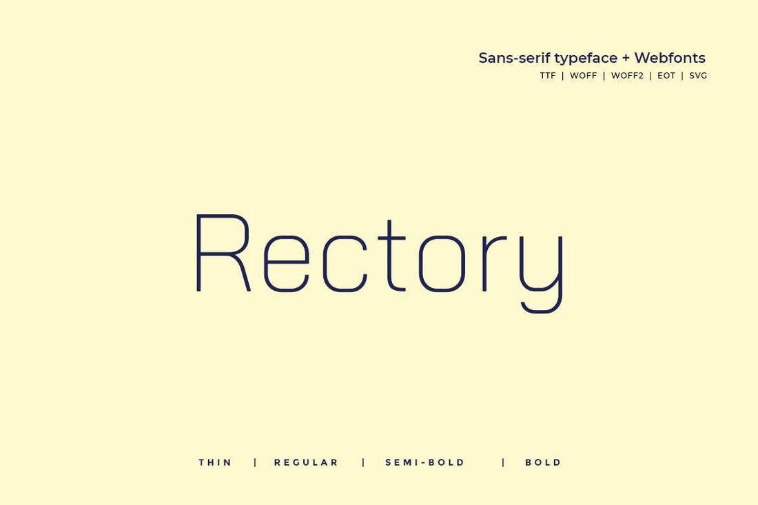 Rectory - Minimal Font Family