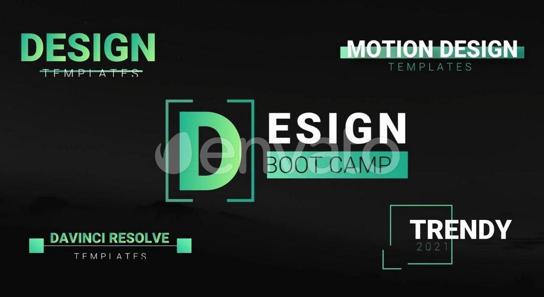 Trendy Motion Titles - Davinci Resolve Templates