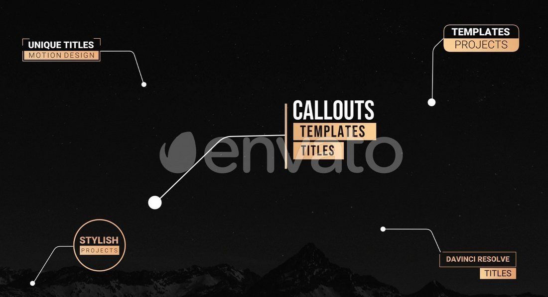 Unique Callout Titles - DaVinci Resolve Templates