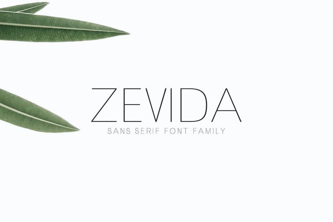 Zevida - Modern Minimal Font Family