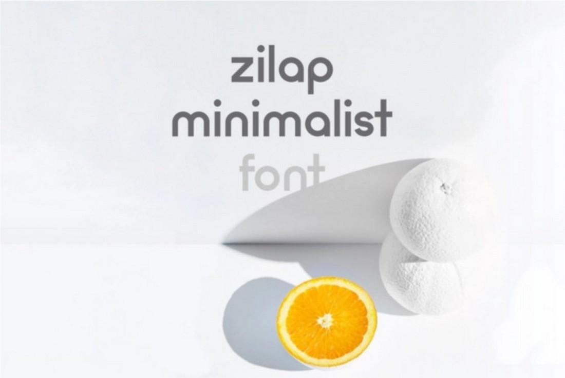 Zilap - Free Minimalist Sans Serif Font