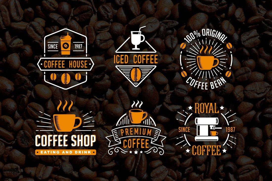 6 Free Coffee Badges & Logo Templates
