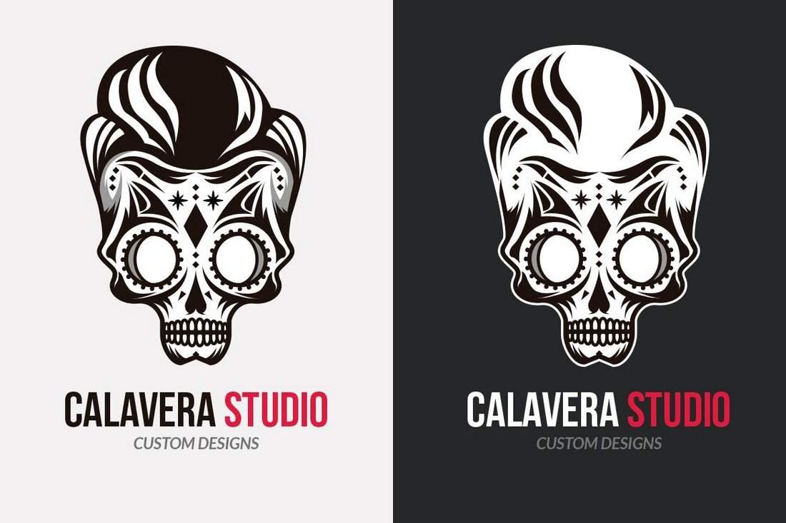 Calavera Studio - Vintage Logo Template