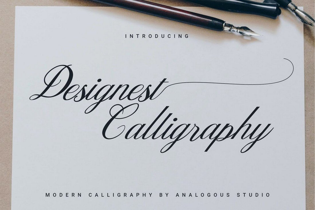 Designest Calligraphy Font for Procreate