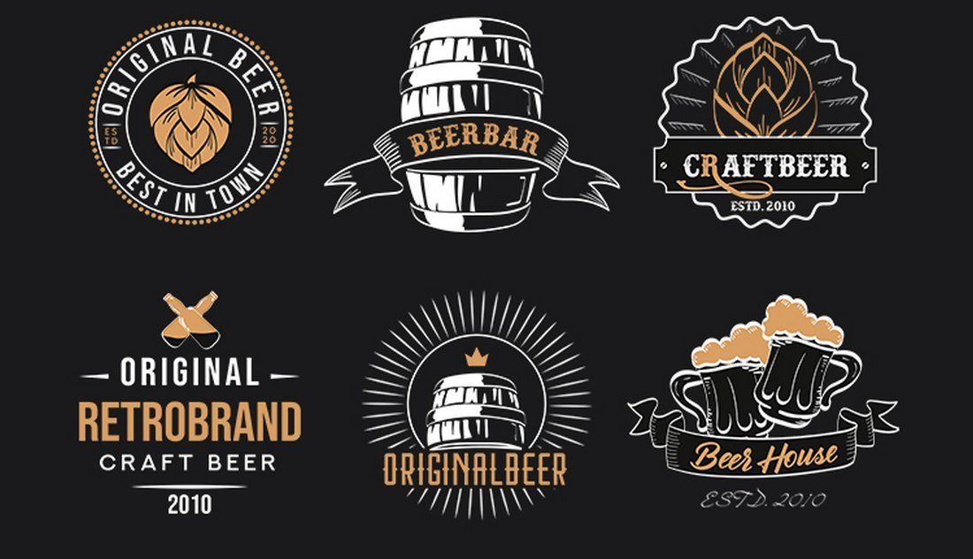 Free Vintage Beer Logo Templates