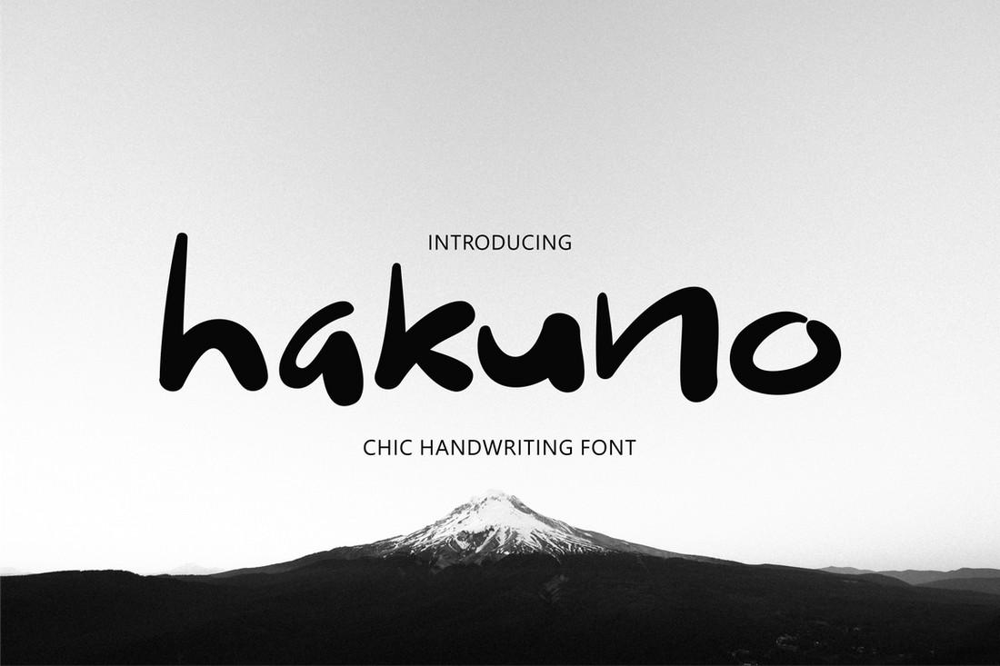 Hakuno - Chic Handwriting Procreate Font