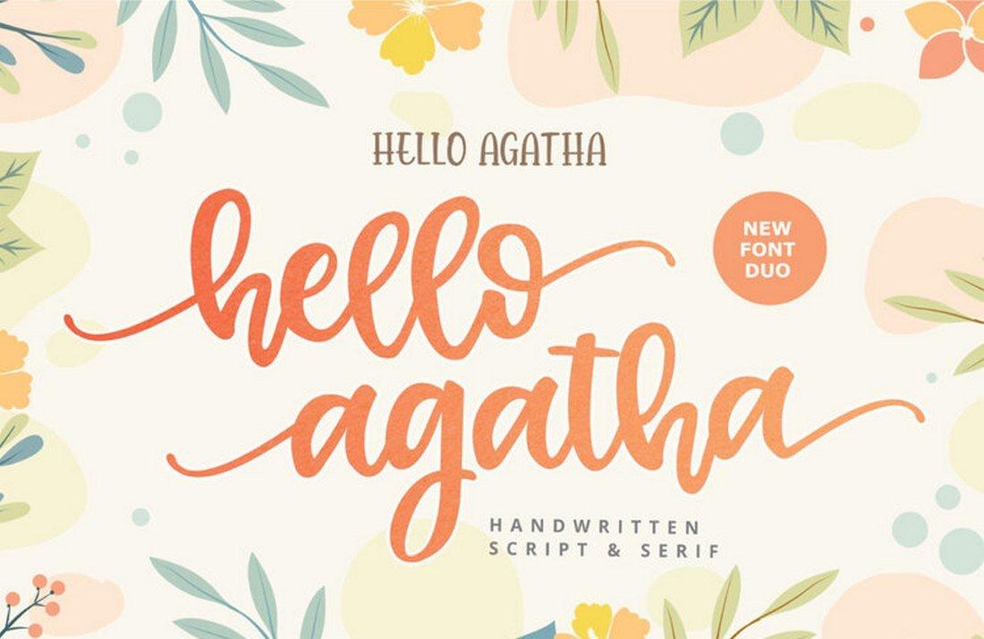 Hello Agatha - Free Script Font for Procreate