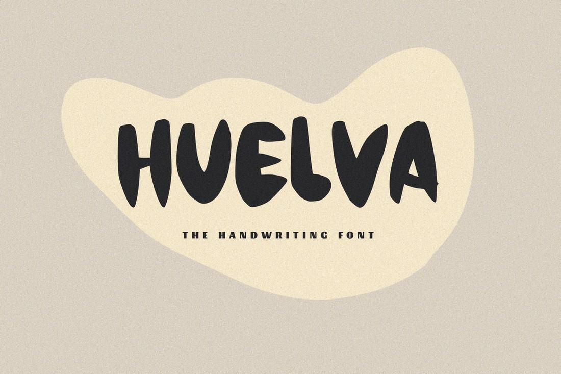 Huelva - Creative Procreate Font