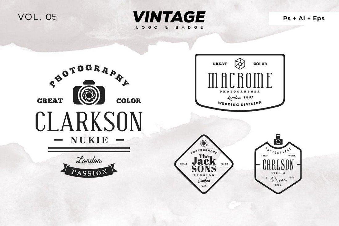 Minimalist Vintage Logo Templates