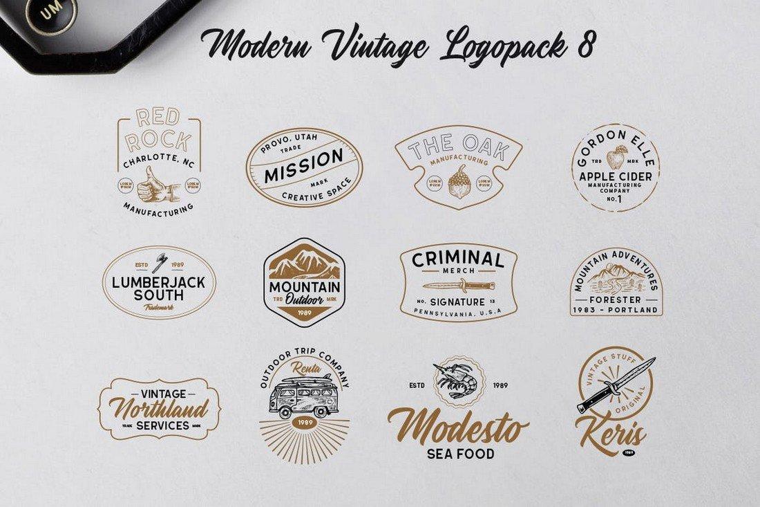 Modern Vintage Logo Templates Collection