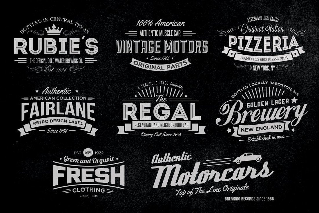 Vintage Labels & Logos Collection