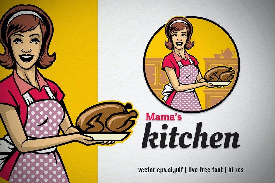 Vintage Logo Template for Diner & Restaraunt