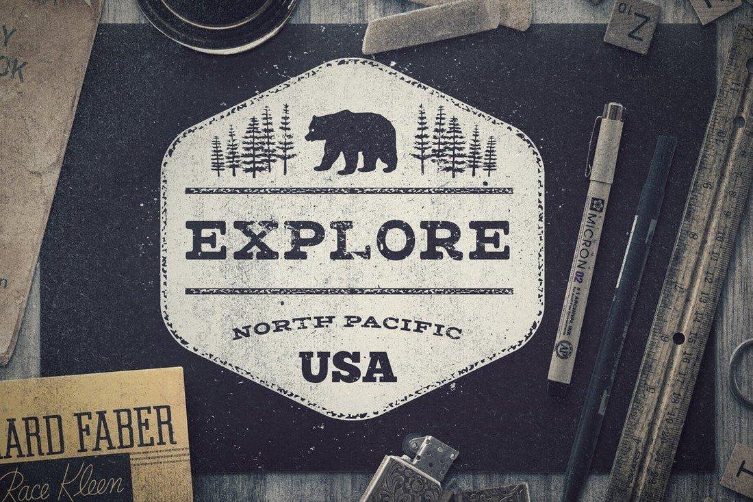 Worn Out Vintage Badges & Logo Templates