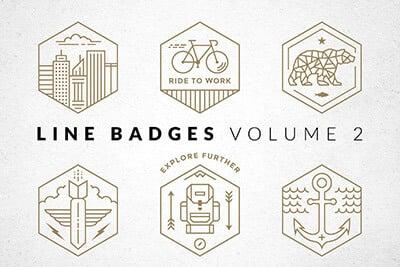 Line Badges Logo Set