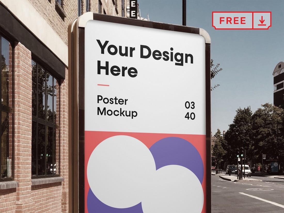 Free City Poster Frame Mockup
