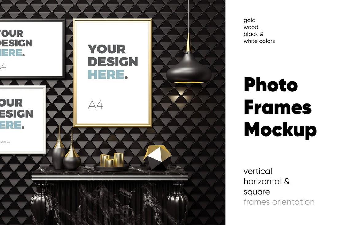 Modern Photo Frames Mockup