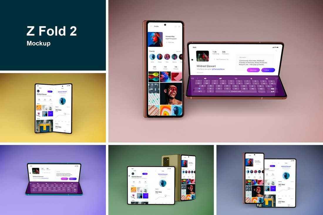Samsung Z Fold 2 Mockup