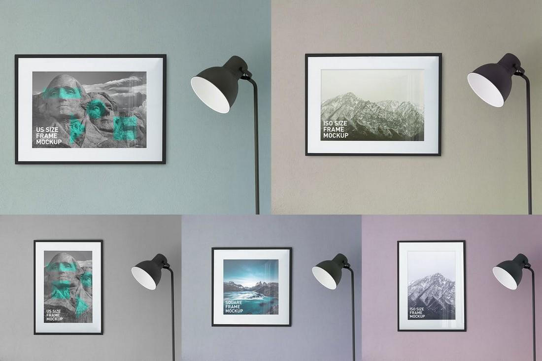 Simple Photo Poster Frames Mockups