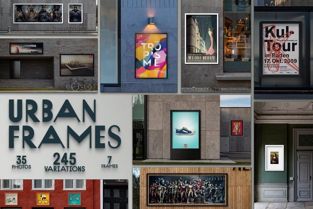 Urban Poster Frames Mockups Bundle