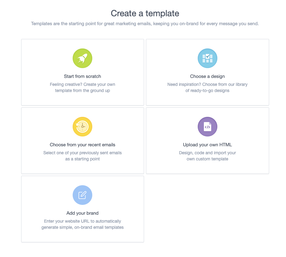 Branded templates allow you to send email in minutes.