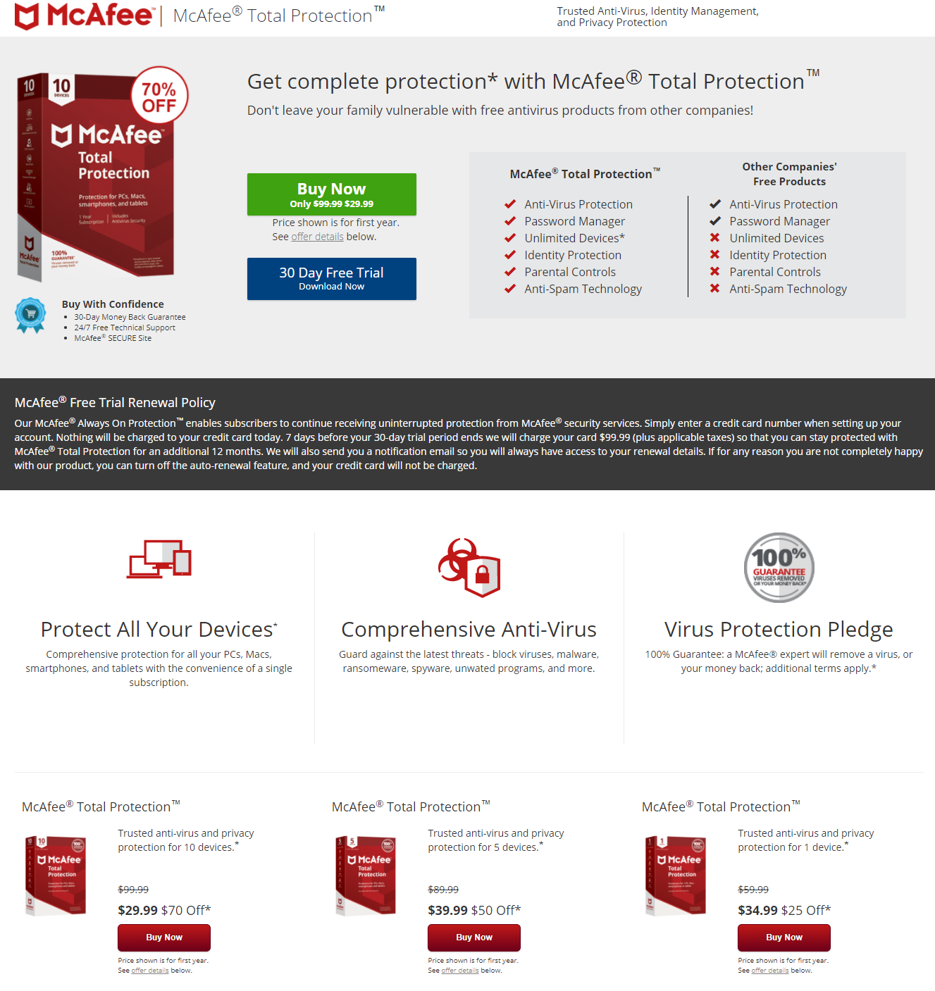 mcafee-landing-page-example