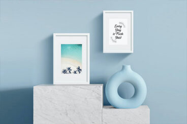 25+ Best Poster & Photo Frame Mockup Templates