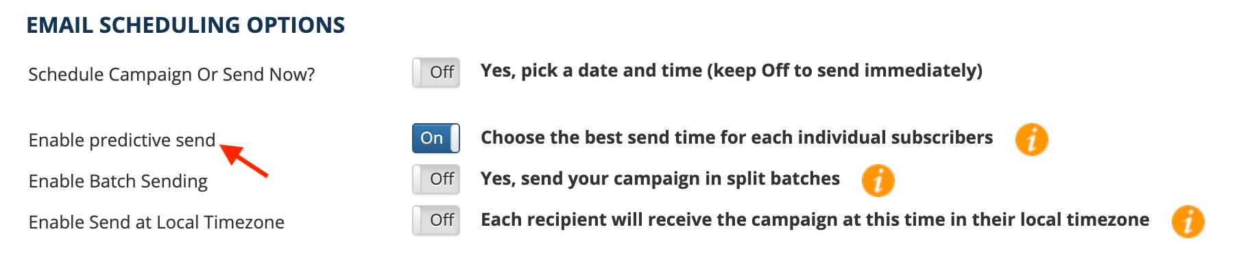 email scheduling predictive send