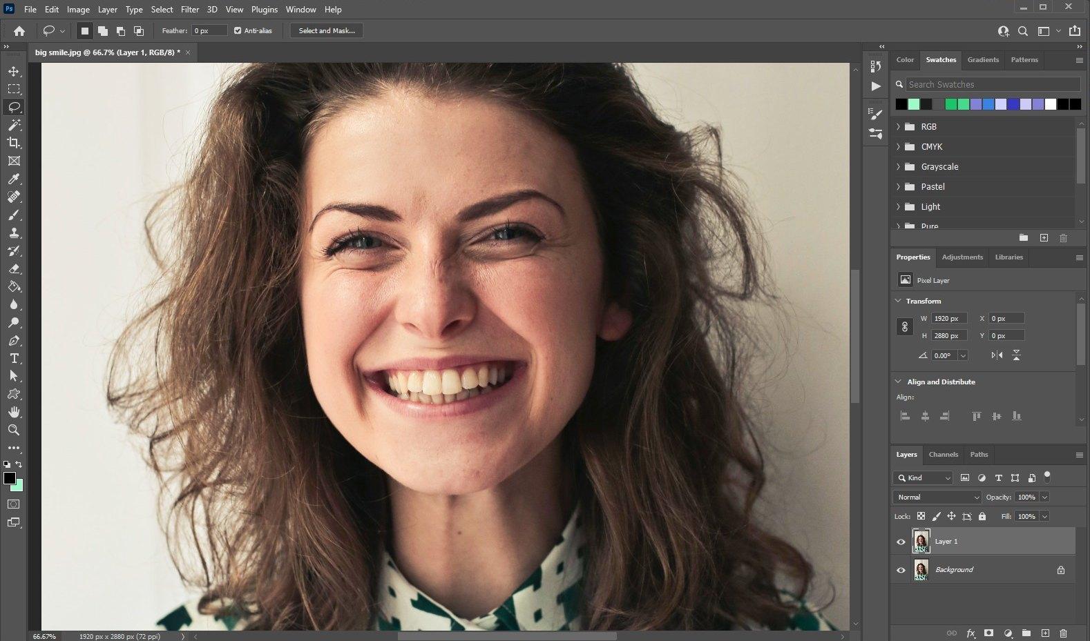 how to whiten teeth photoshop - 1
