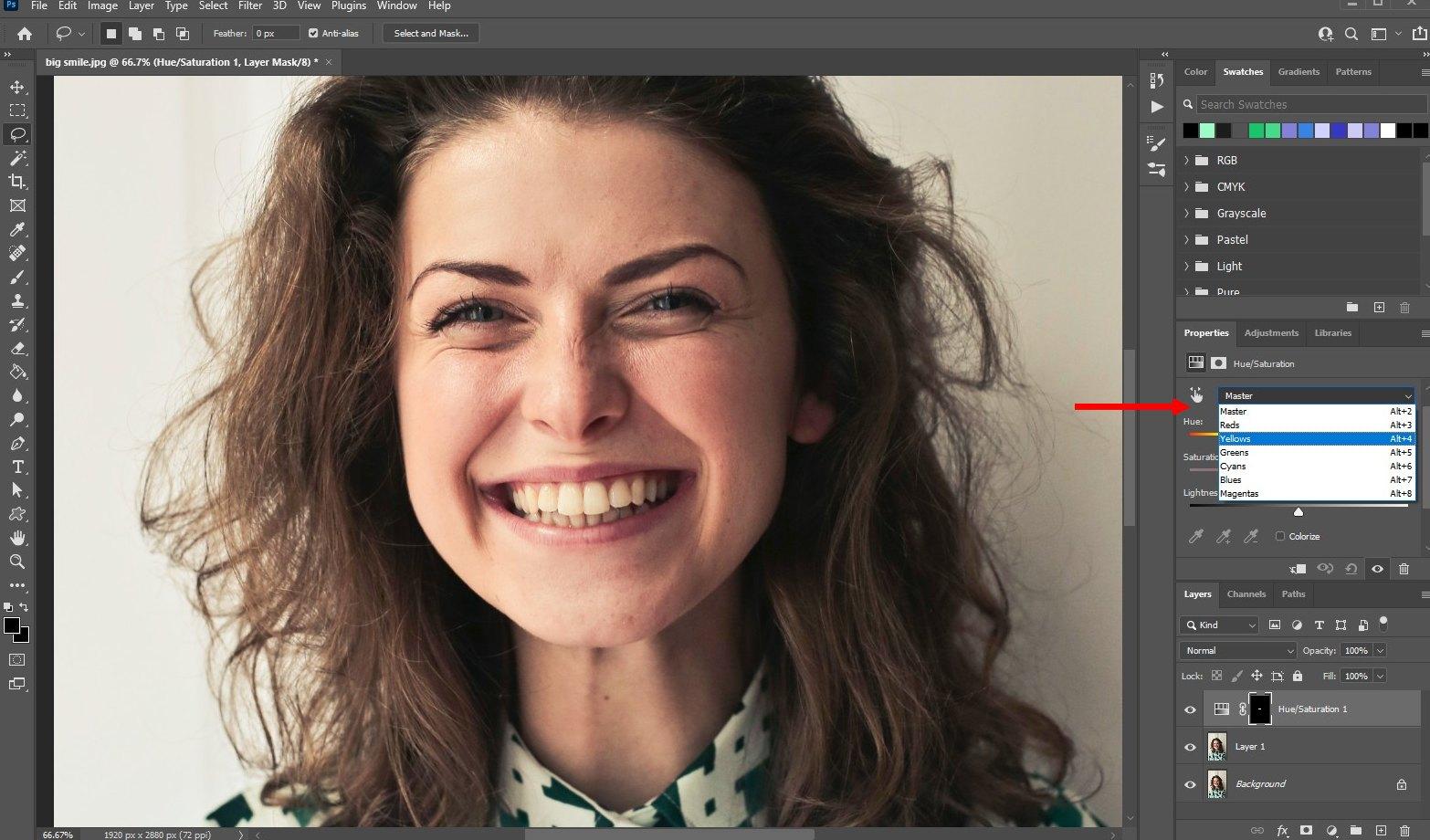 how to whiten teeth photoshop - 4