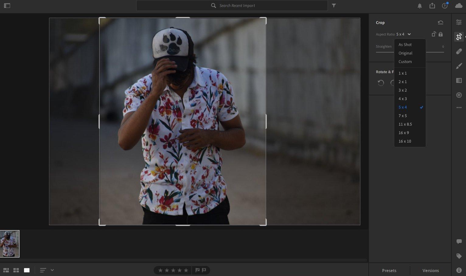 instagram lightroom editing - resize