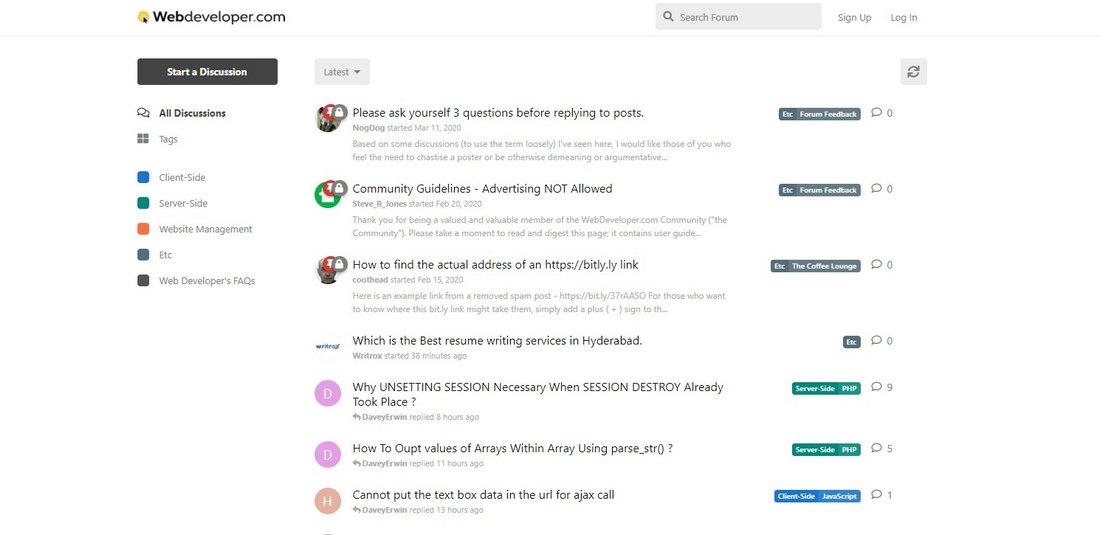 webdeveloper forum